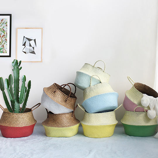 Eco-friendly classic style seagrass basket Best-Selling