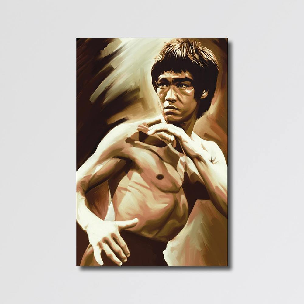 Famous POP Canvas Art Modern Bruce Lee Pictures Paintings with Texture