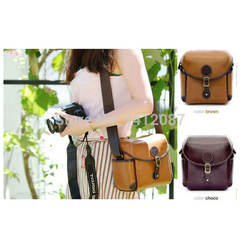 England Retro Leather Video Camera Bag Digital Shoulder Bag