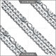 popular sale 20 inch men's 925 sterling silver necklace curb chain DIY thick jewelry chain