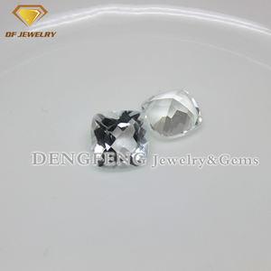 Preços por atacado Almofada Solta Branco Topázio Pedra Preciosa