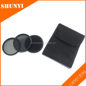 Pabrik OEM 3 In 1 Kamera ND Filter Kit 58mm ND2 ND4 ND8 ND Filter