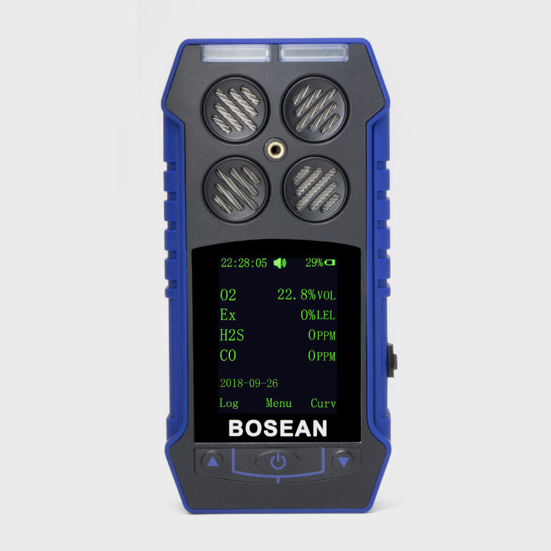 Bosean Portable handheld Multi gas Detector 4in1 CO/CH4/H2S/O2 gas detector