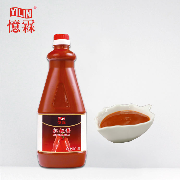 Food companies 1.1L tasty red hot chili sauce chili paste