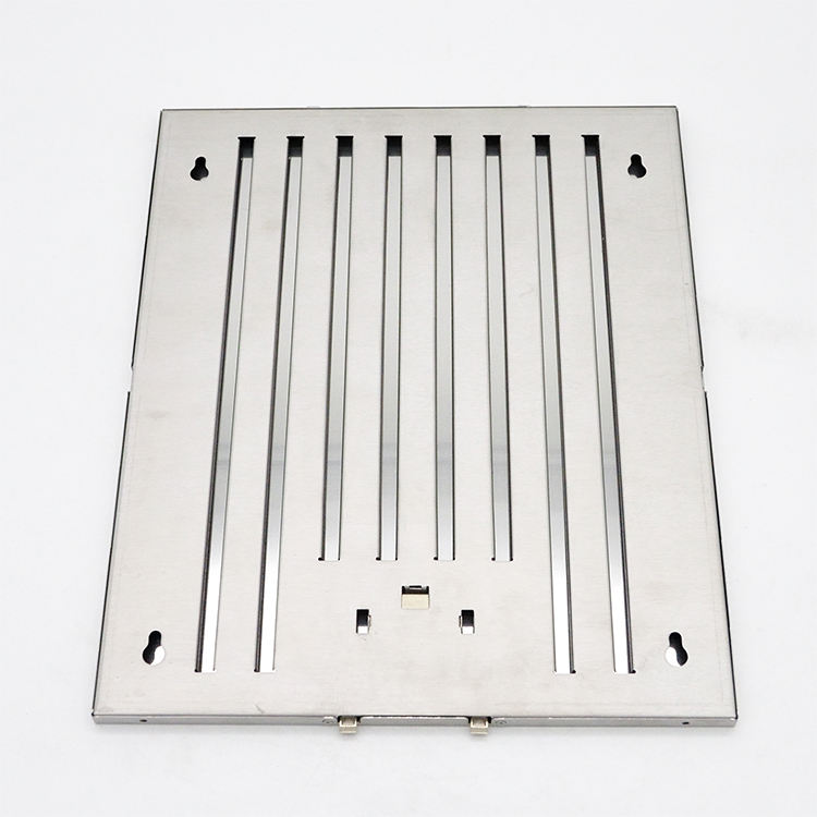 Stainless Steel Grease Baffle Hood Plate Filters Replacement For Smoke On Sale
