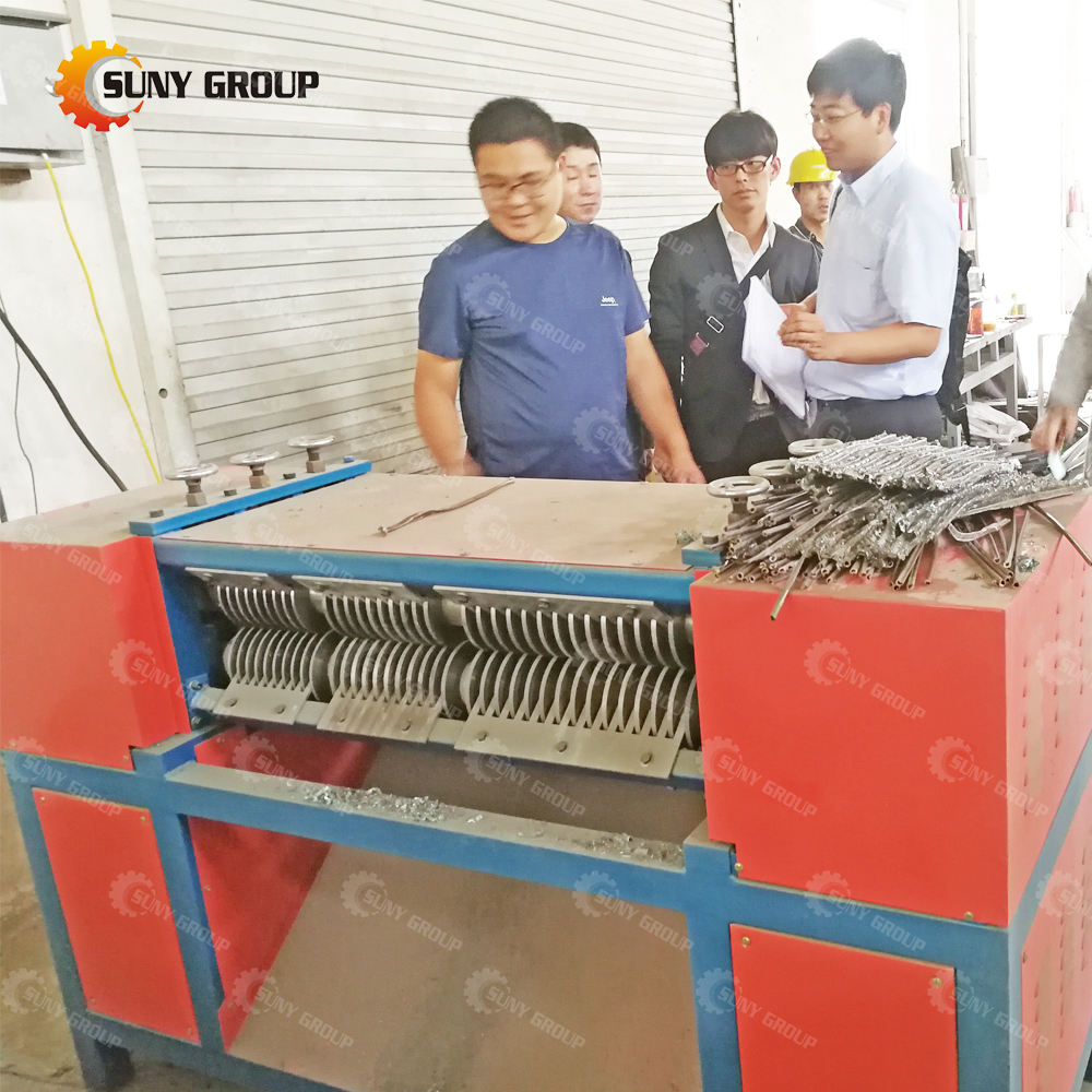 AC Radiator Scrap Separating Machine Brass Radiator Copper Aluminum Recycling Line