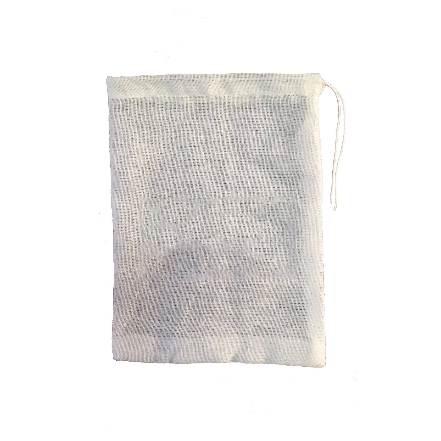 Eco-friendly Reusable Personalised Cotton Mesh Drawstring Bag Cotton Gauze Packaging Bag With String