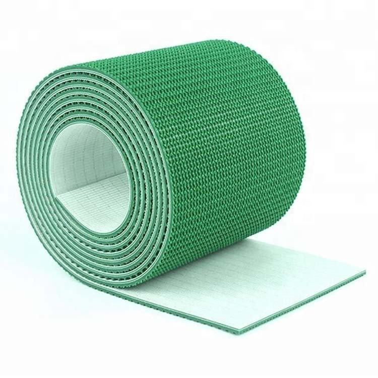 Non Slip Green Pvc Grass Rough Top Conveyor Belt