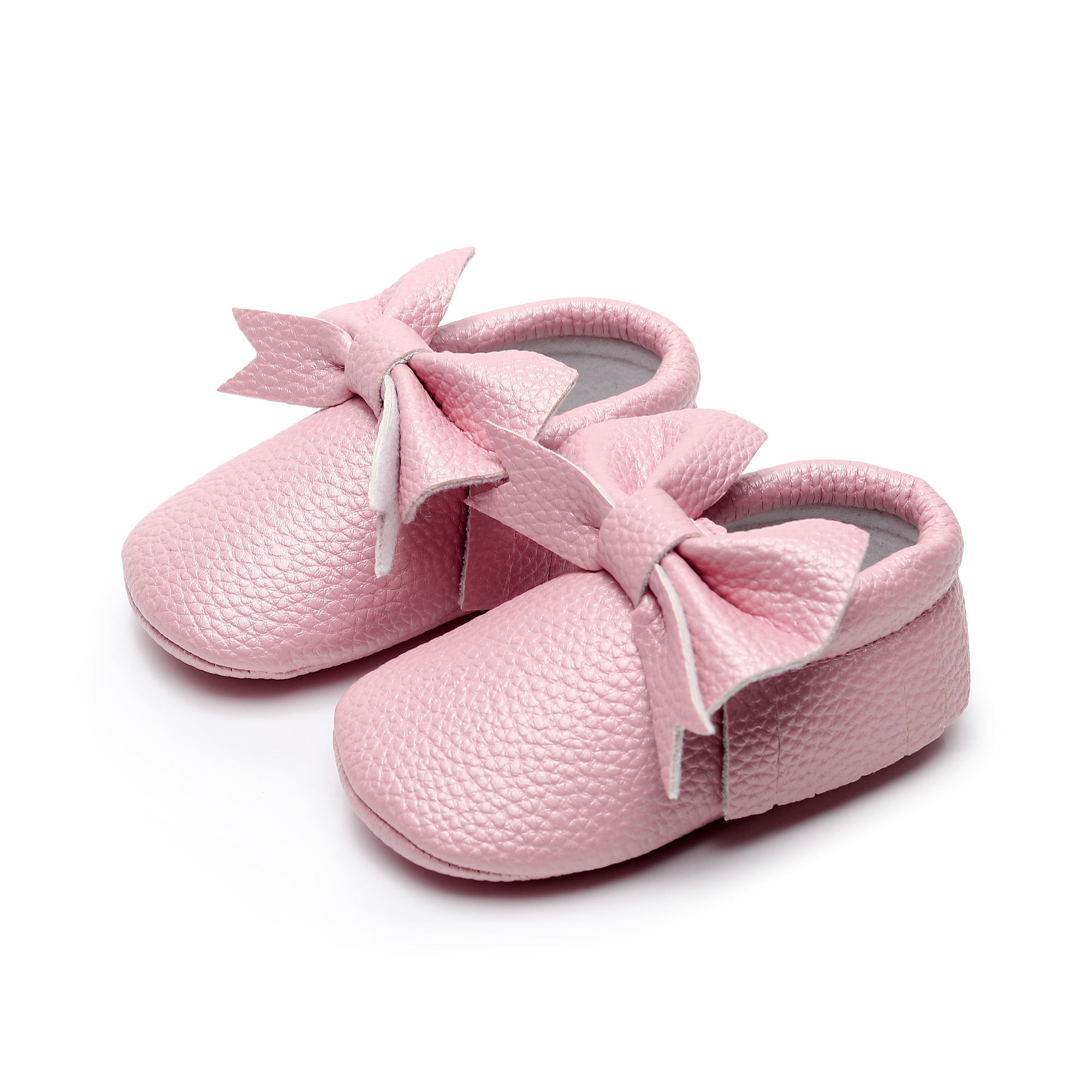 PU Leather Baby Boy Girl Baby Moccasins Shoes Bow Fringe Soft Soled Non-slip Footwear Crib Shoes