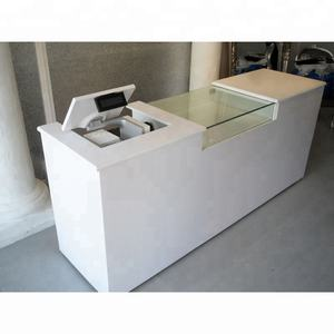 High quality white modern check out counter for retail