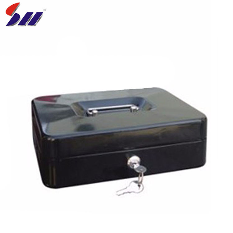 Custom Protection Metal Bank Protection Cash Money Box With Handle