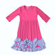 Sue Lucky wholesale hot sell fashion pink ruffled remake maxi dress for baby girls