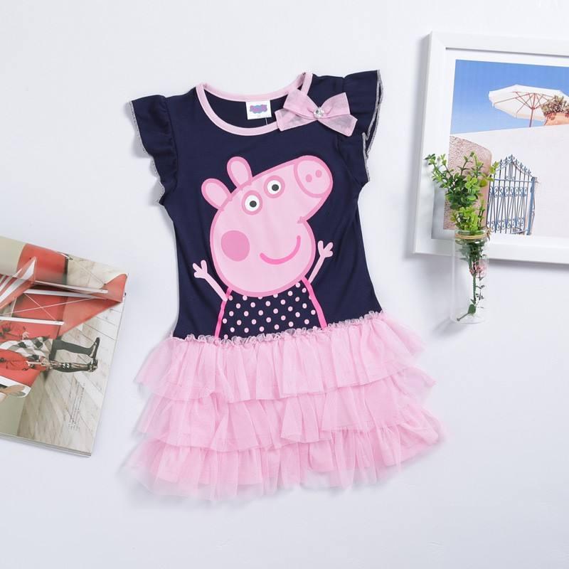 directa de la fábrica salesnew las chicas de <span class=keywords><strong>moda</strong></span> vestido debebé peppa pig ropa