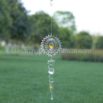 3D Decorative Spiral Metal Garden Wind Spinner Outdoor