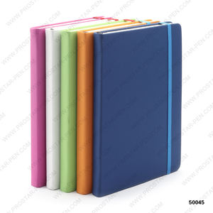 Custom A5 Hardcover PU Leather Notebook with Elastic Band