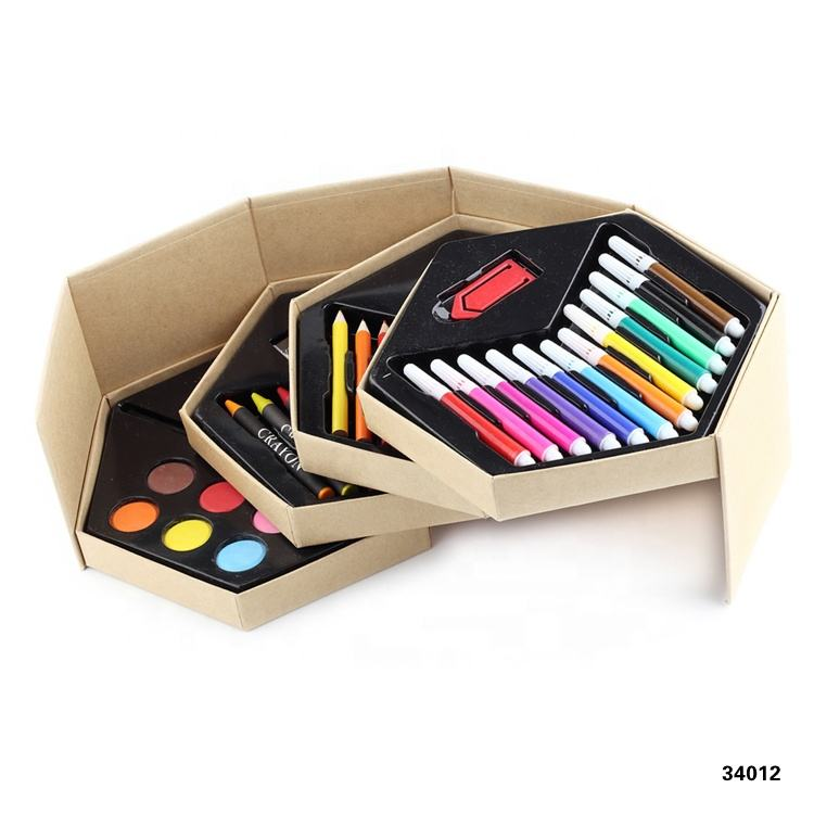 2019 new Promotion Stationery set Watercolor Pen and crayon and Colored pencils set