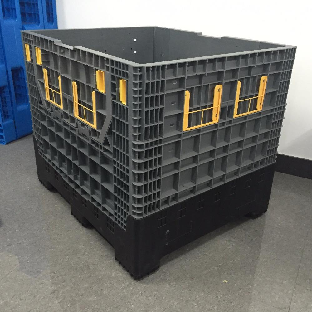 1200x1000 heavy duty folding plastic pallet box with manufacturer price
