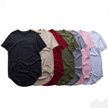 ATSC037 Summer men fashion extended t shirt longline hip hop tee shirts