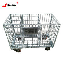 Stacking transport metal pallet container electroplating wire mesh cage for recycle industry