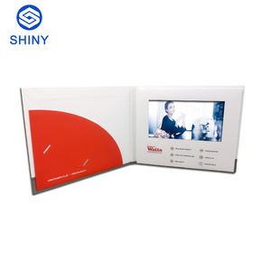 7 inch Hardcover HD/IPS Screen Video Brochure,Video Greeting Card with Pocket