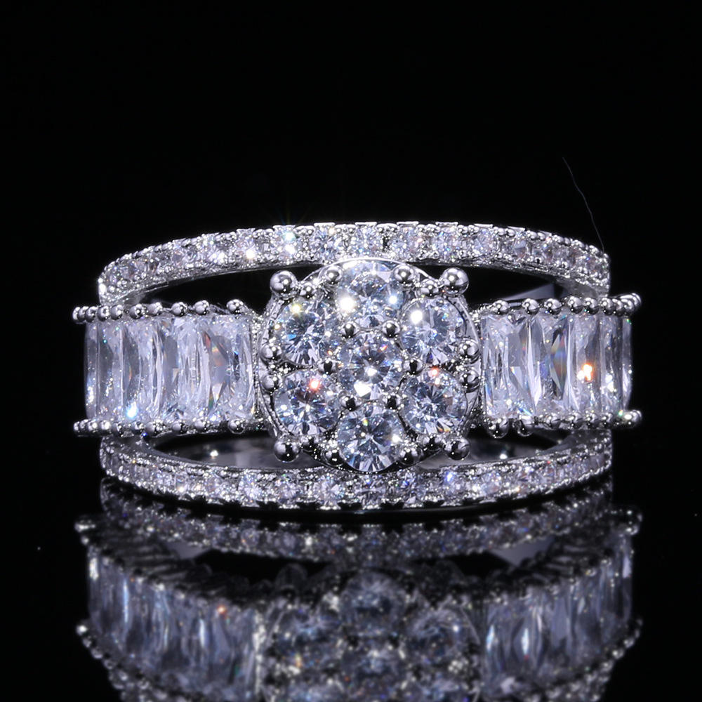CAOSHI New Fashion Rings for Women Party Elegant Bridal Jewelry 925 Silver Wedding Engagement Ring