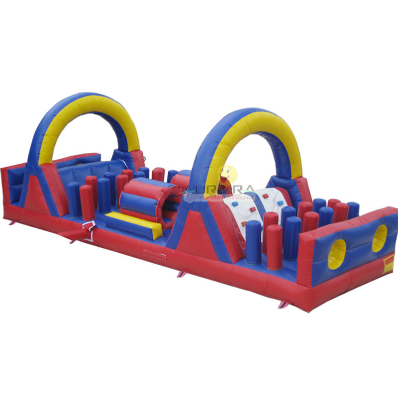 Sports commercial inflatable castle jumping slide bounce Outdoor playground inflatable obstacle inflatable jumping obstacle