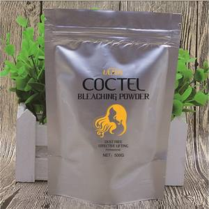 professional protein collagen oxygen chemical components of lighener blondier dust blue hair bleach color bleaching powder
