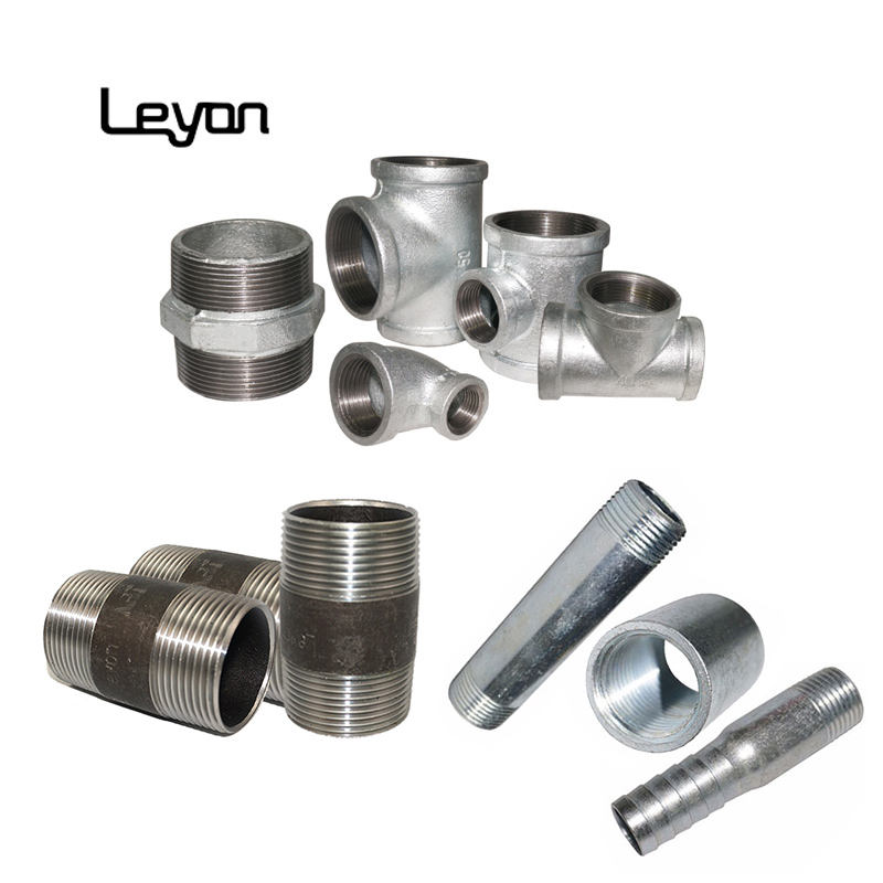plumbing fittings names and pictures galvanized nace standard malleable reducing elbow tube tee carbon steel nipple black pipe