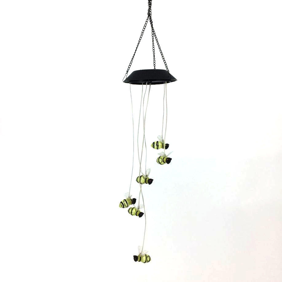 Plastic Honey Bee Hanging Metal Solar Wholesale Tube Wind Chime