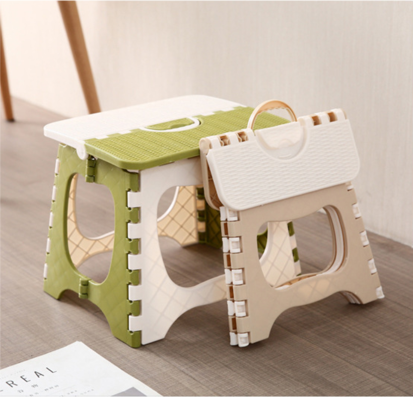 2019 New Arrival Dropshipping Living Room Small Bench Ottoman Bathroom Portable Plastic Plain Folding Stool