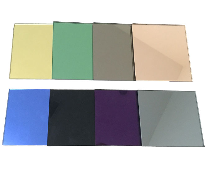 Colored mirror Eruo silver glass