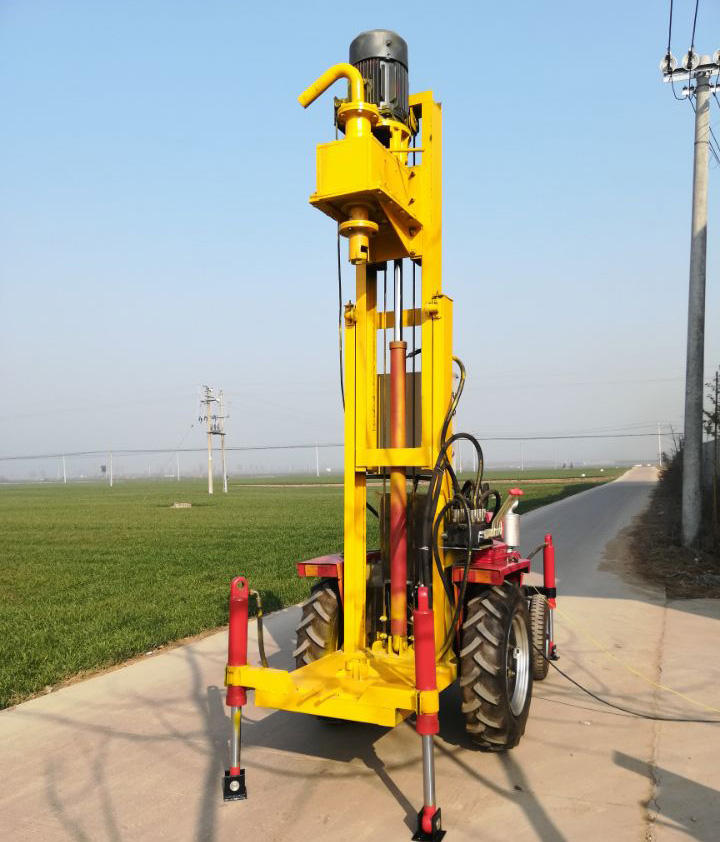 Diesel truck mounted water borehole drilling rig machine prices