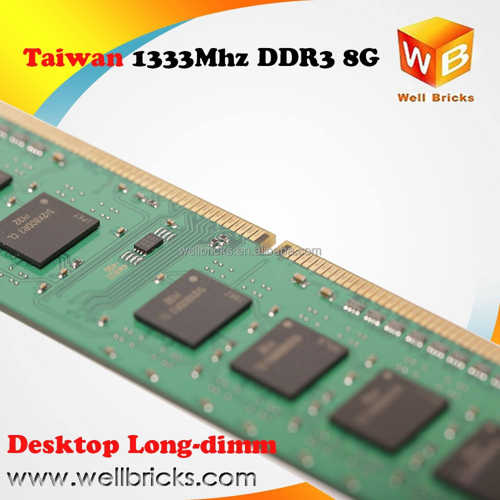Factory for computer parts in memory ddr3 8gb pc12800 1600mhz