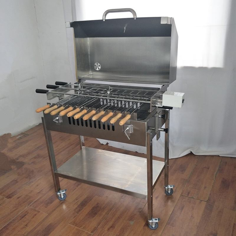 Traditional Greek Cypriot Charcoal Rotisserie Motor Cyprus Barbeque Grill