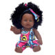 Top Sales Plastics 12inch african american fashion black baby doll for girl doll manufacturer China