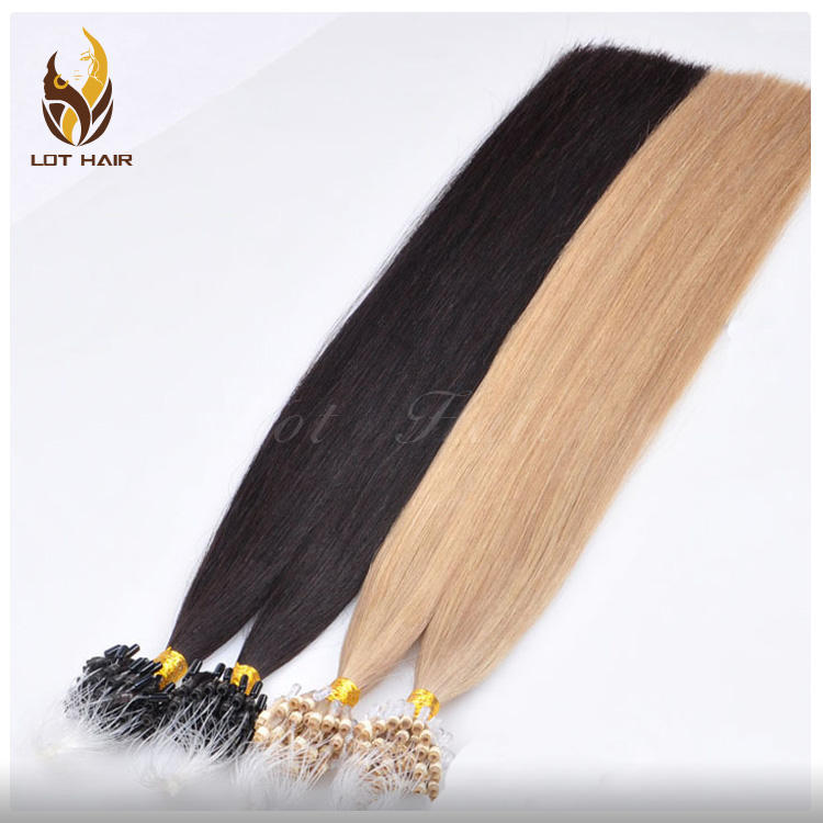 prebonded hair micro loop hair 1g per strand remy brazilian micro links hair extensions
