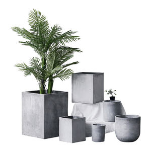 2018 trending Nordic style indoor decorative large cement flower pots for green plants