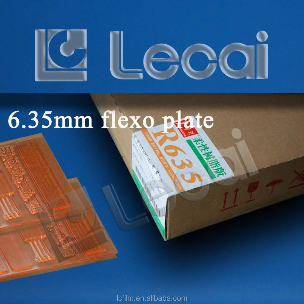 6.35mm Thickness Nylon Resin Flexo Printing Plate for Plastic Bags
