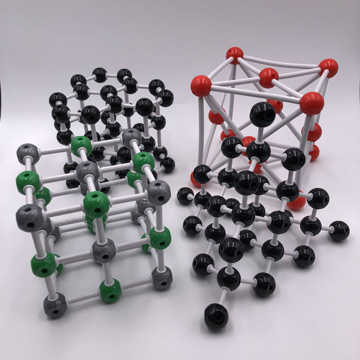 The Crystal Structure Model of Graphite, Diamond, NaCl, Copper, 301 pieces Molecular Model.