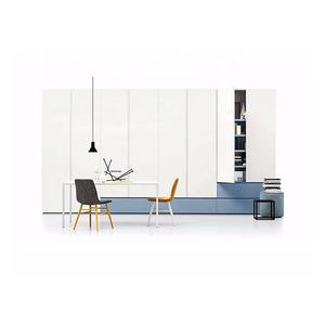 Living room furniture cheap price melamine finish white color hinged door wardrobe closet from Guangzhou