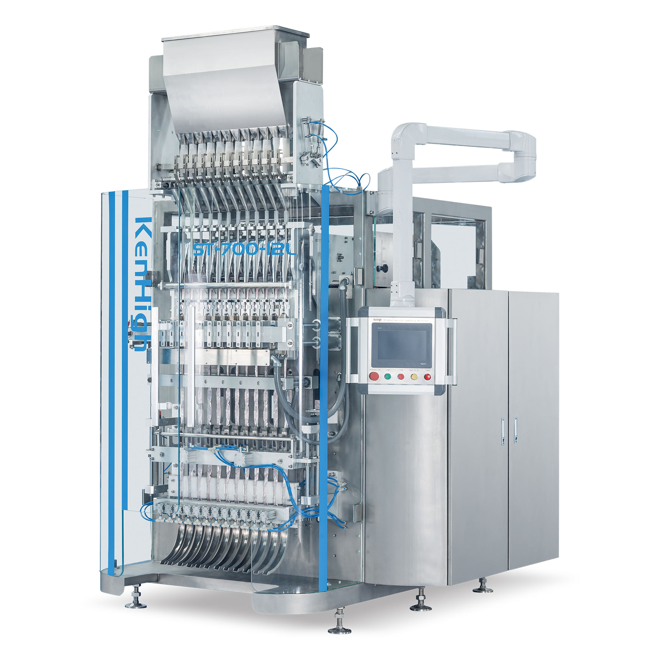 lowest granule auto packing and powder liquid sachet multilane packaging machine
