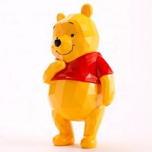 Artificial cartoon movie figure fiberglass life size geometric Winnie The Pooh bear sratue