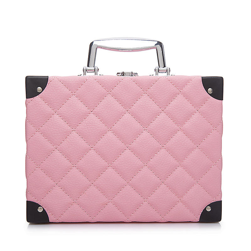 women's vanity bag cosmetic luggage beauty cases double-layer cosmetic storage box