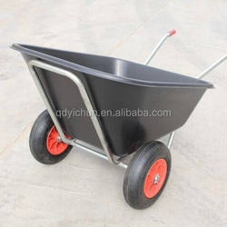 double wheel plastic wheel barrow 160L WB9610