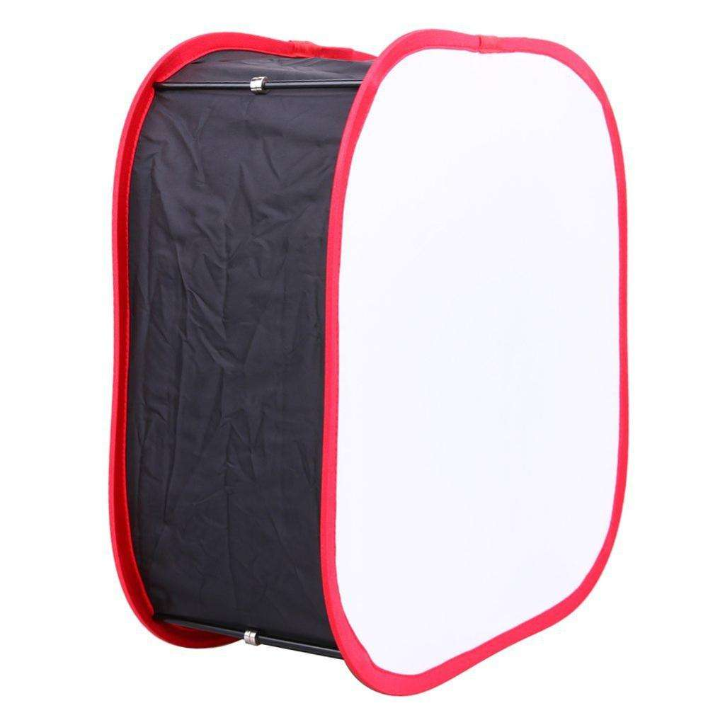 Kaliou Black Red Frame Foldable Flash Diffuser Softbox Soft Box For Canon EOS Nikon Speed Light Photo Studio