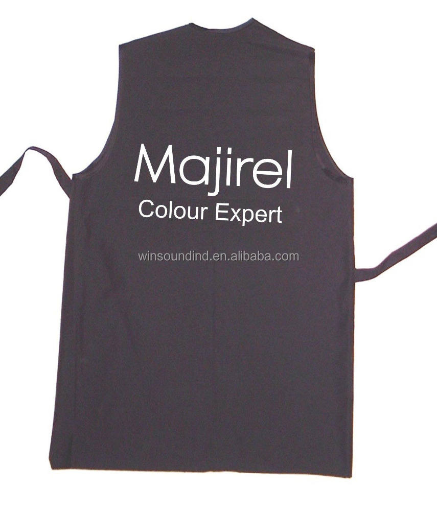 Black Polyester Hairdresser's Salon vest for L'Oreal