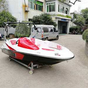 China Seedoo Fiberglass Speed Boat Fast Boat Sport Boat with 60 HP engine