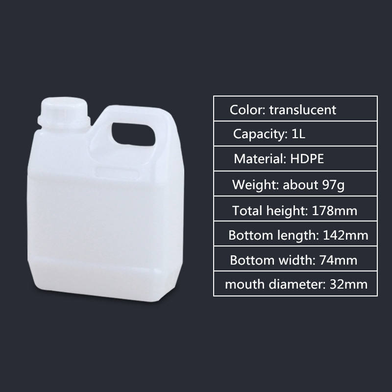 3x New 1L Litre Food Grade Water Container Carrier Bottle Drum Jerry Can Camping