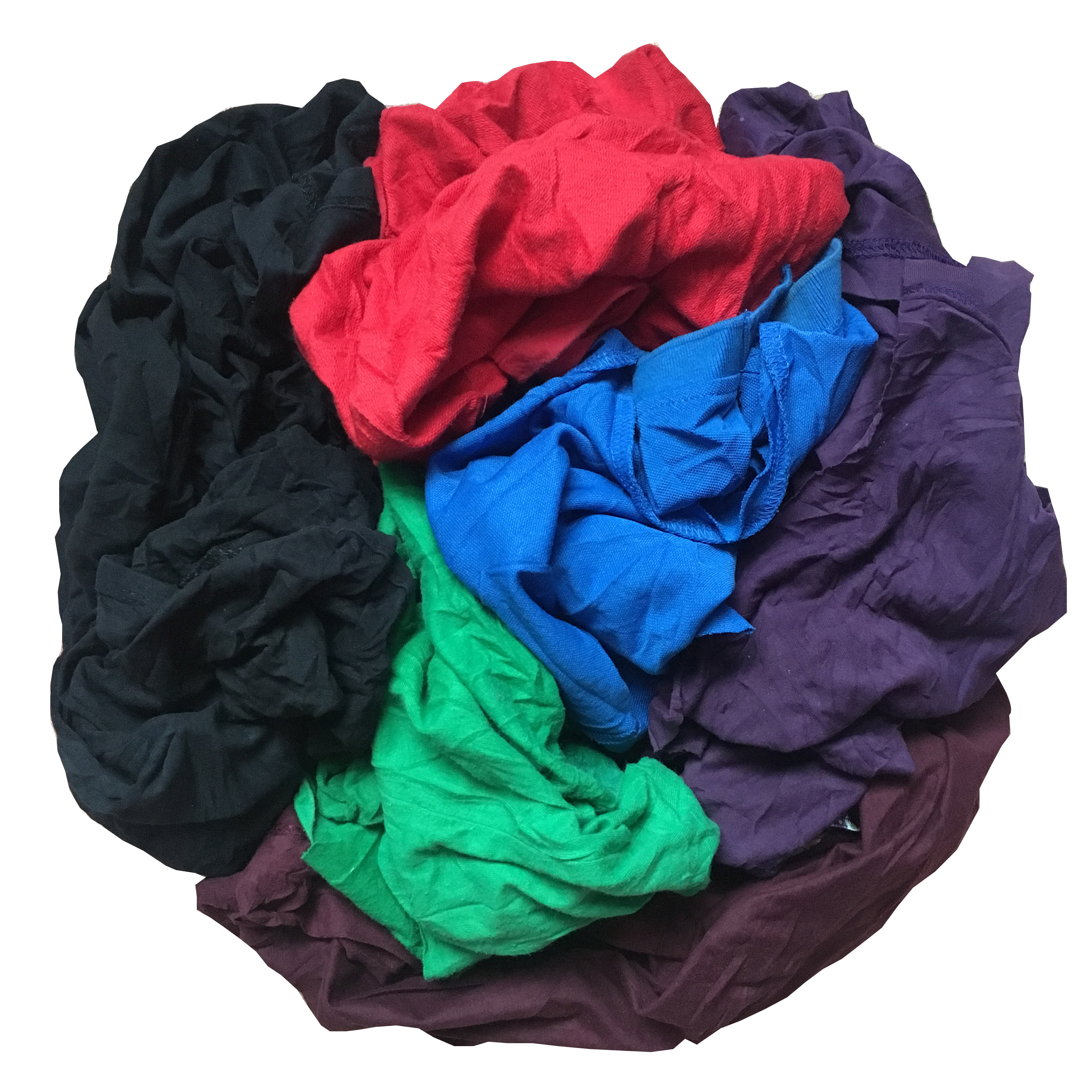 100% cotton dark color t shirt wiping cloth for industry wiping rags