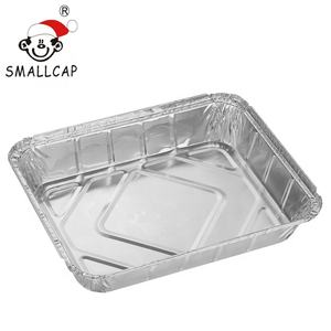 Takeaway aluminium contain 32x26x5cm 3L 8 portions 1240 half size with board lid restaurant aluminium foil container rec32265i
